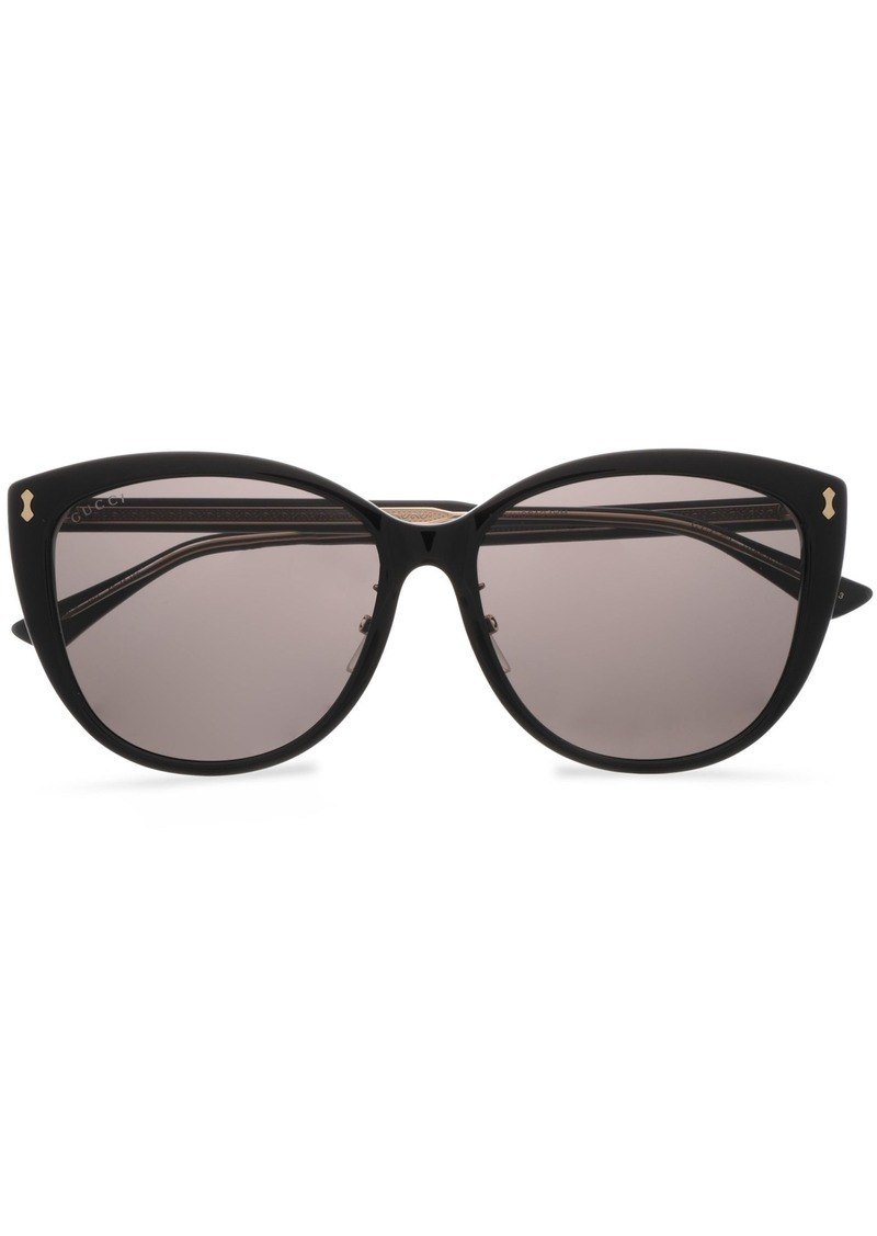 Gucci Woman D-frame Acetate Sunglasses Black