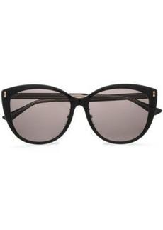 bbcdd9376 Gucci Woman D-frame Acetate Sunglasses Black
