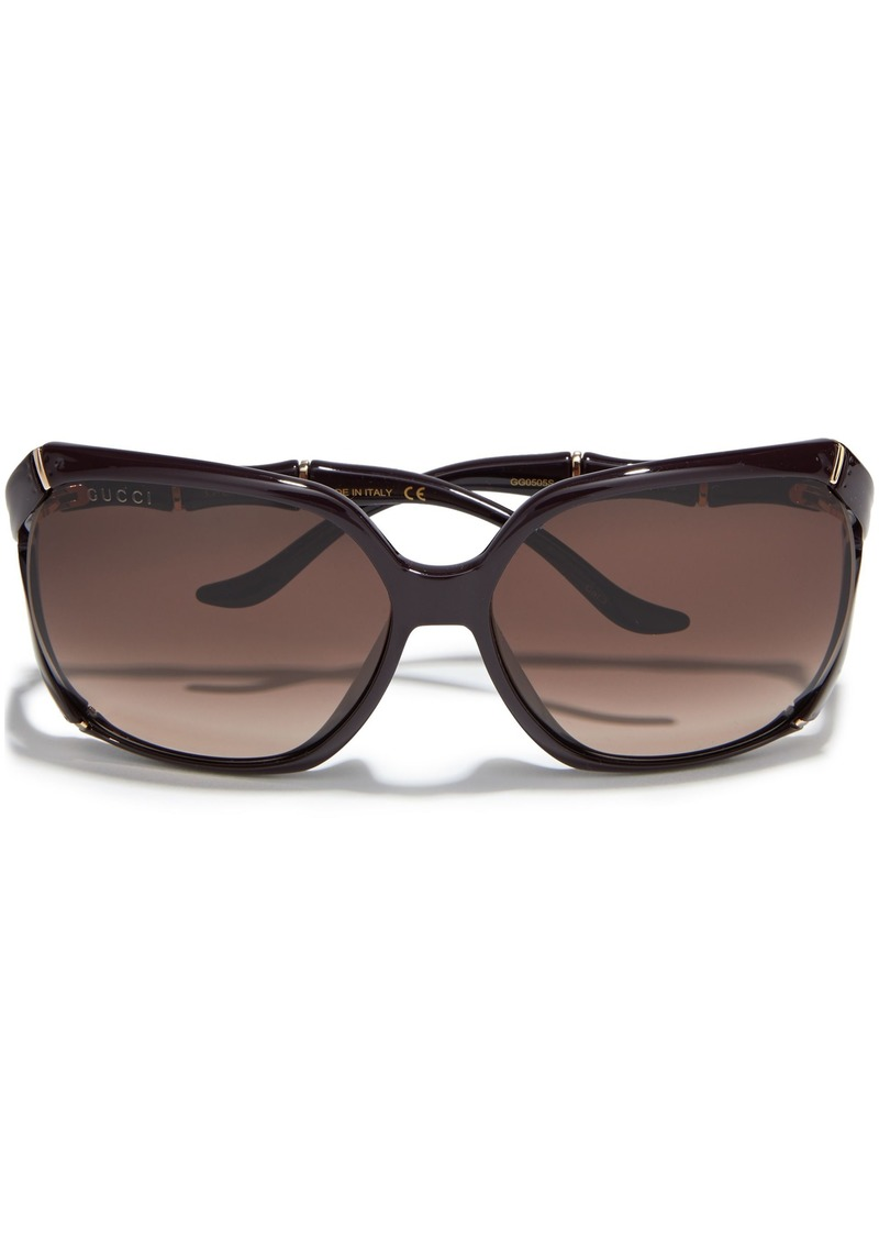 Gucci Woman D-frame Acetate Sunglasses Brown