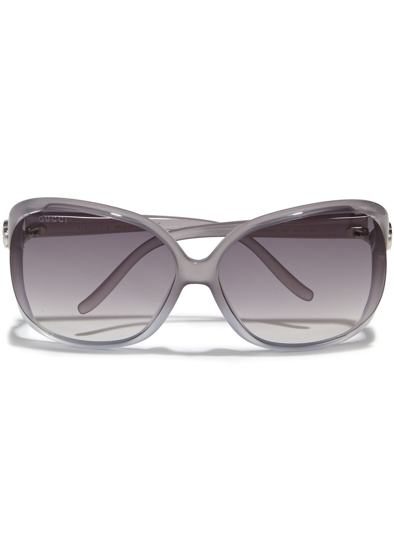 Gucci Woman D-frame Acetate Sunglasses Gray