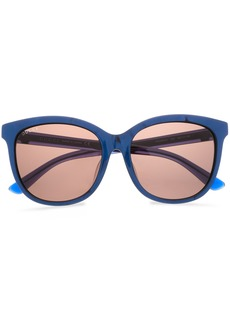 Gucci Woman D-frame Printed Acetate Sunglasses Royal Blue