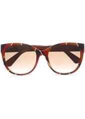 Gucci Woman D-frame Striped Acetate Sunglasses Brick