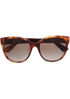 Gucci Woman D-frame Tortoiseshell Acetate Sunglasses Animal Print