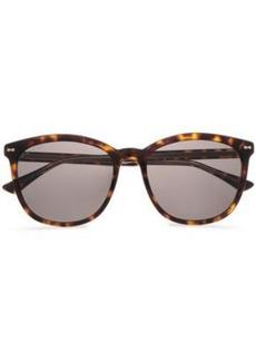 Gucci Woman D-frame Tortoiseshell Acetate Sunglasses Brown