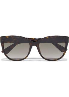 Gucci Woman D-frame Tortoiseshell Acetate Sunglasses Dark Brown