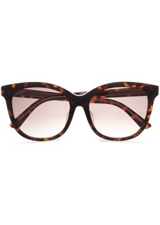 Gucci Woman D-frame Tortoiseshell Acetate Sunglasses Dark Brown