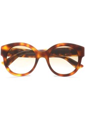 Gucci Woman Round-frame Embellished  Tortoiseshell Acetate Sunglasses Animal Print