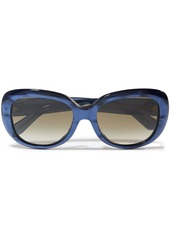 Gucci Woman Round-frame Iridescent Acetate Sunglasses Brown