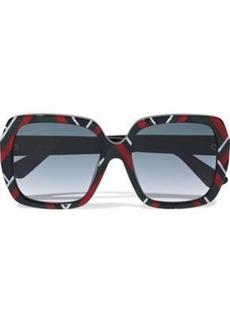 b012665de Gucci Woman Square-frame Printed Acetate Sunglasses Multicolor