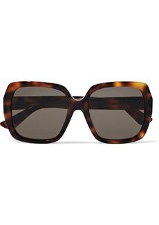 Gucci Woman Square-frame Tortoiseshell Acetate Sunglasses Animal Print