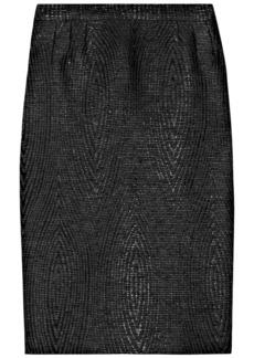 Gucci Woman Textured Cotton-blend Jacquard Skirt Black