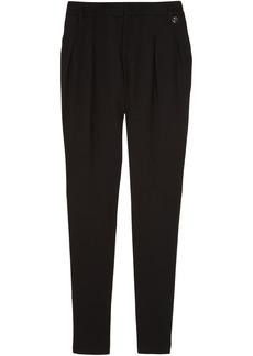 Gucci Woman Wool-blend Twill Skinny Pants Black