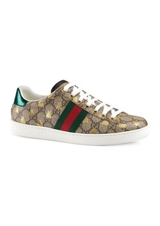 Gucci Women's New Ace GG Supreme Sneaker with Bees