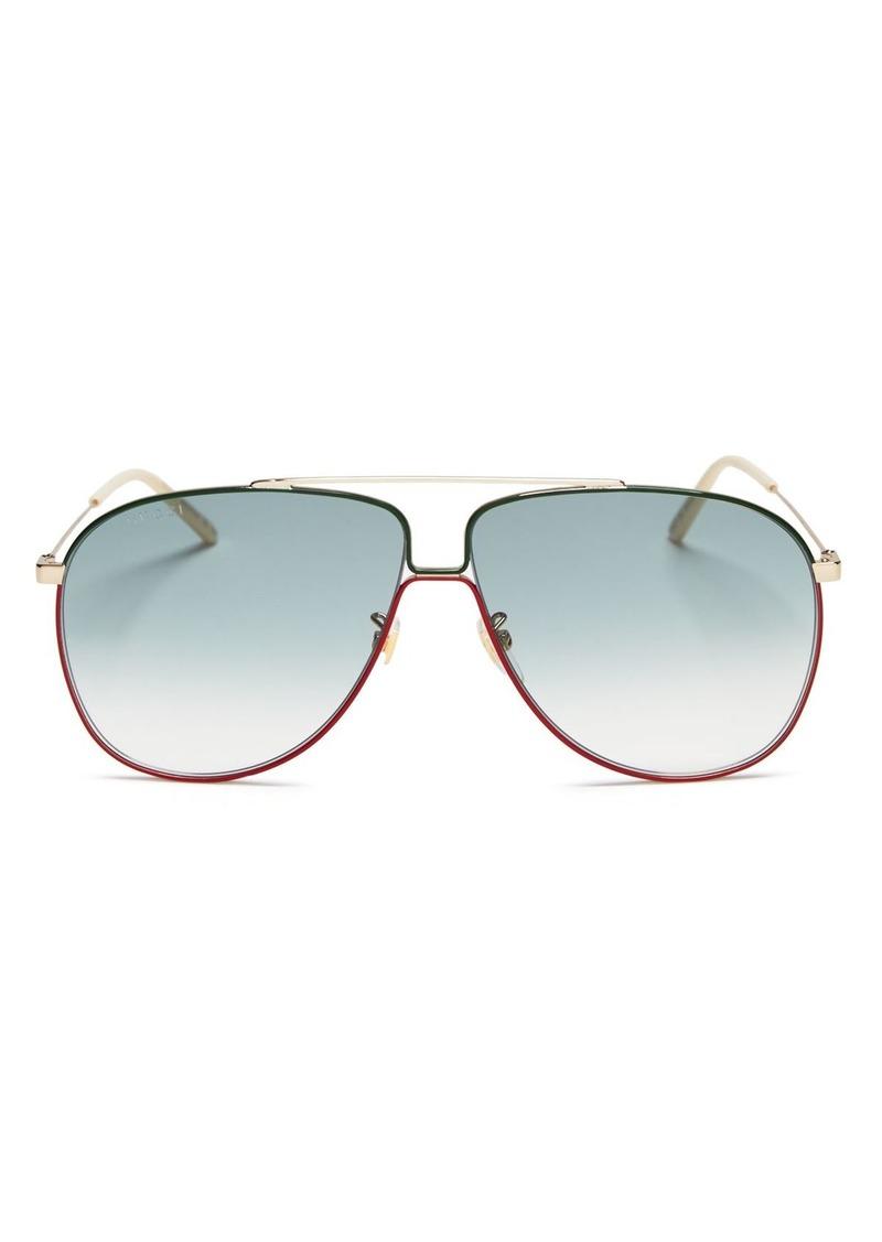 Gucci Women's Aviator Sunglasses, 63mm