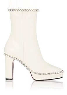 Gucci Women's Crystal-Embellished Leather Platform Ankle Boots