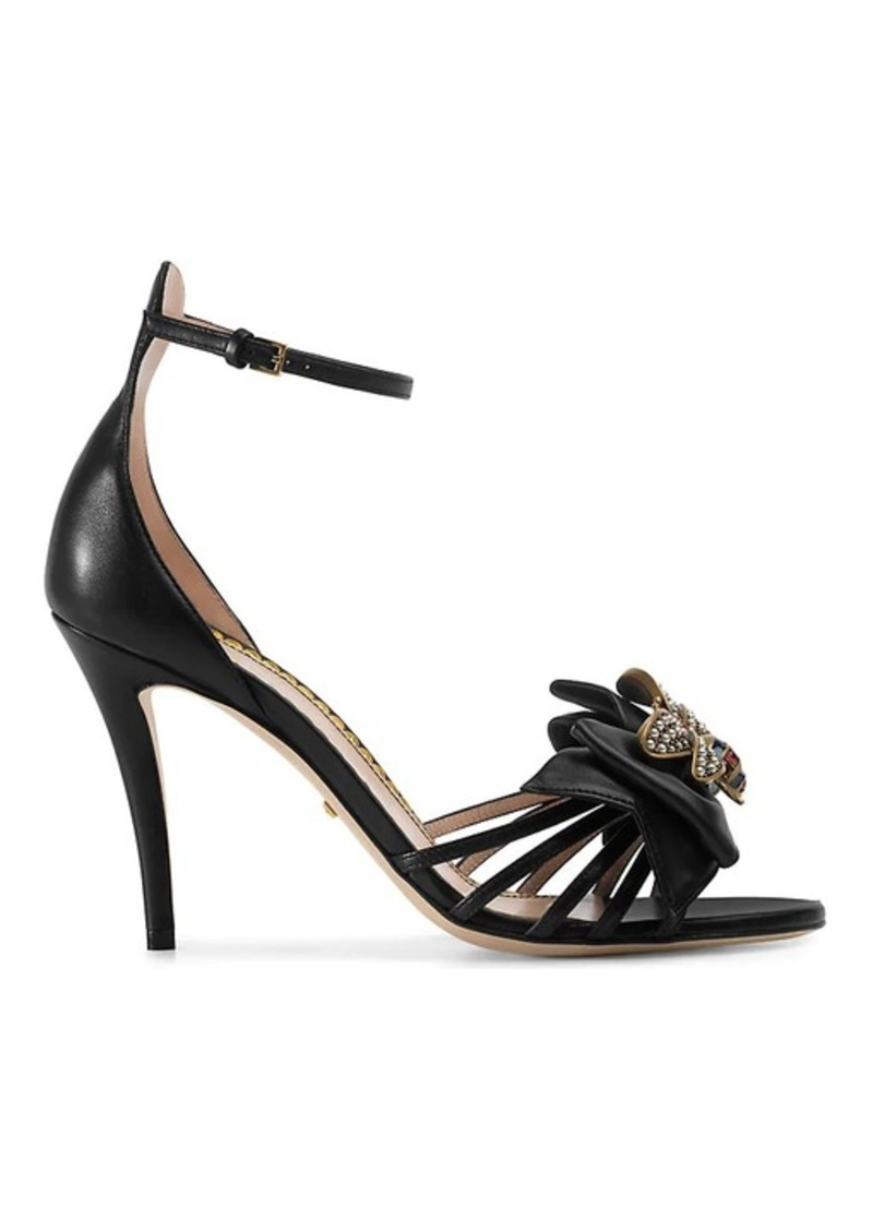 de08aabfd8e1 Gucci Gucci Women s Embellished Leather Ankle-Strap Sandals