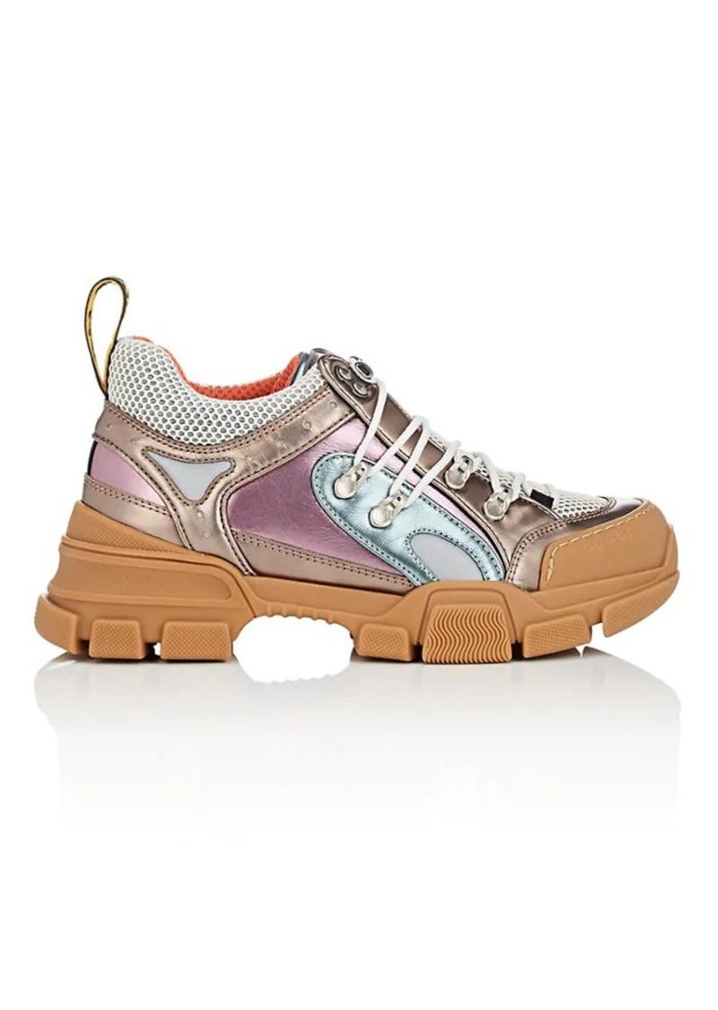b066bf3c095 Gucci Gucci Women s Metallic Leather Hiking Boots