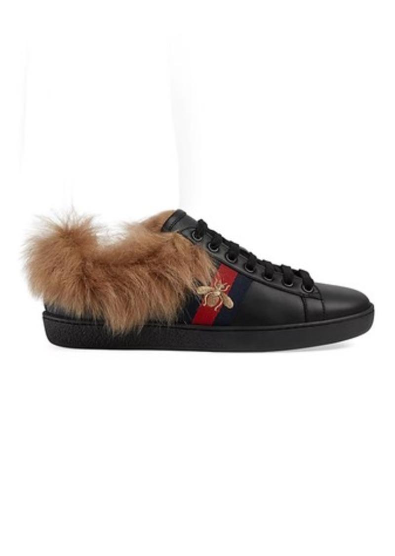0e02d884da0 Gucci Gucci Women s New Ace Fur-Lined Sneakers