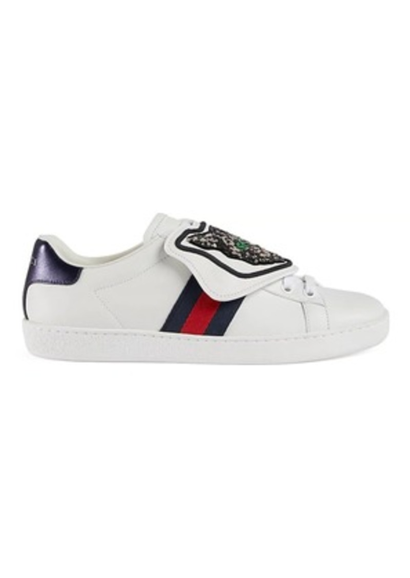 5c6326ec926 Gucci Gucci Women s New Ace Leather Sneakers