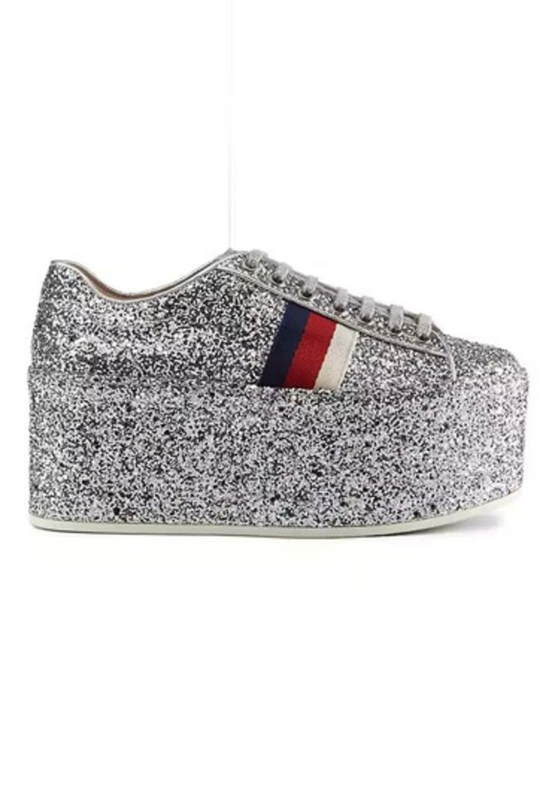 94e9911f80e On Sale today! Gucci Gucci Women s Peggy Glitter Platform Sneakers