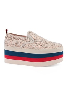 Gucci Women's Peggy on Platform Lace Sneakers