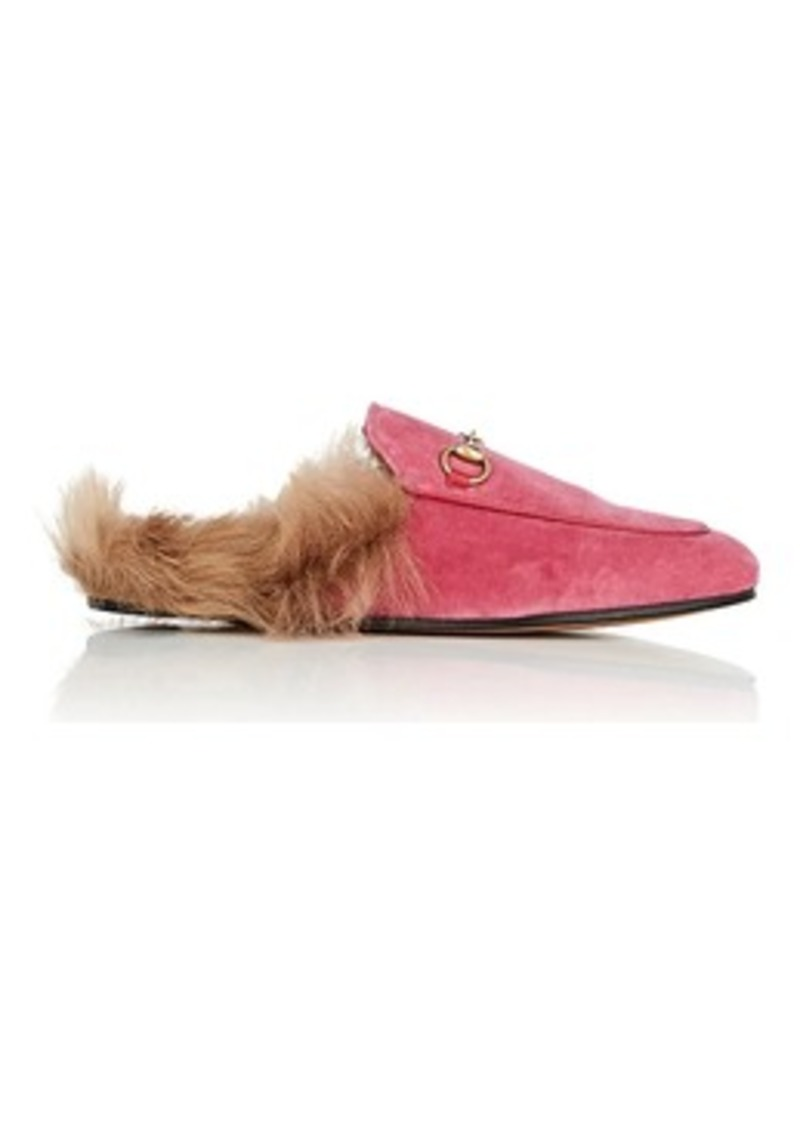 f905c3781be8 Gucci Gucci Women s Princetown Velvet Slippers