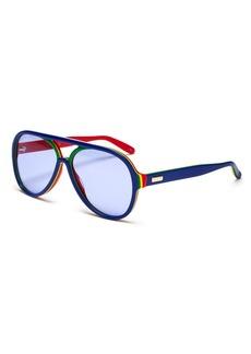 Gucci Women's Rainbow Aviator Sunglasses, 57mm