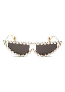 Gucci Women's Simulated Pearl-Embellished Cat Eye Sunglasses, 53mm