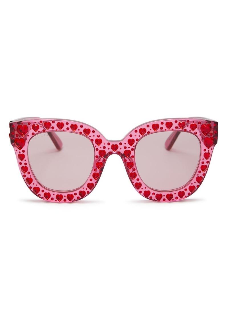 Gucci Women's Swarovski Crystal-Embellished Cat Eye Sunglasses, 49mm