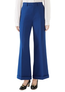 Gucci Wool & Silk Cuffed Ankle Pants