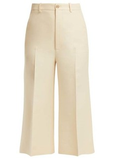 Gucci Wool-blend cropped trousers