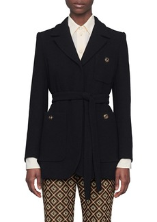 Gucci Wool Sablé Wrap Jacket