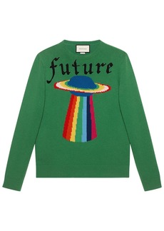 Gucci Wool sweater with planet intarsia