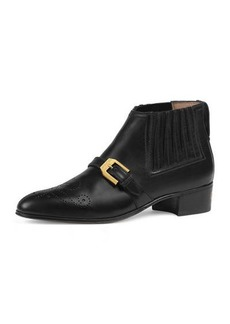Gucci Worsh 40mm Smooth Leather Booties