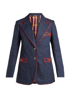 Gucci Wrinkled denim blazer