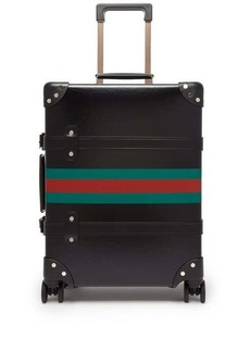 Gucci X Globe Trotter Web-stripe carry case