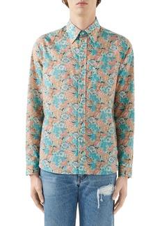 Gucci x Liberty London Floral Print Cotton Muslin Button-Up Shirt