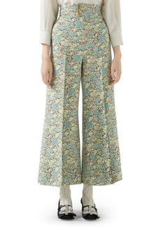 Gucci x Liberty London Floral Print Wool & Mohair Crop Pants