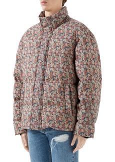 Gucci x Liberty London Floral Print Wool & Mohair Down Puffer Jacket