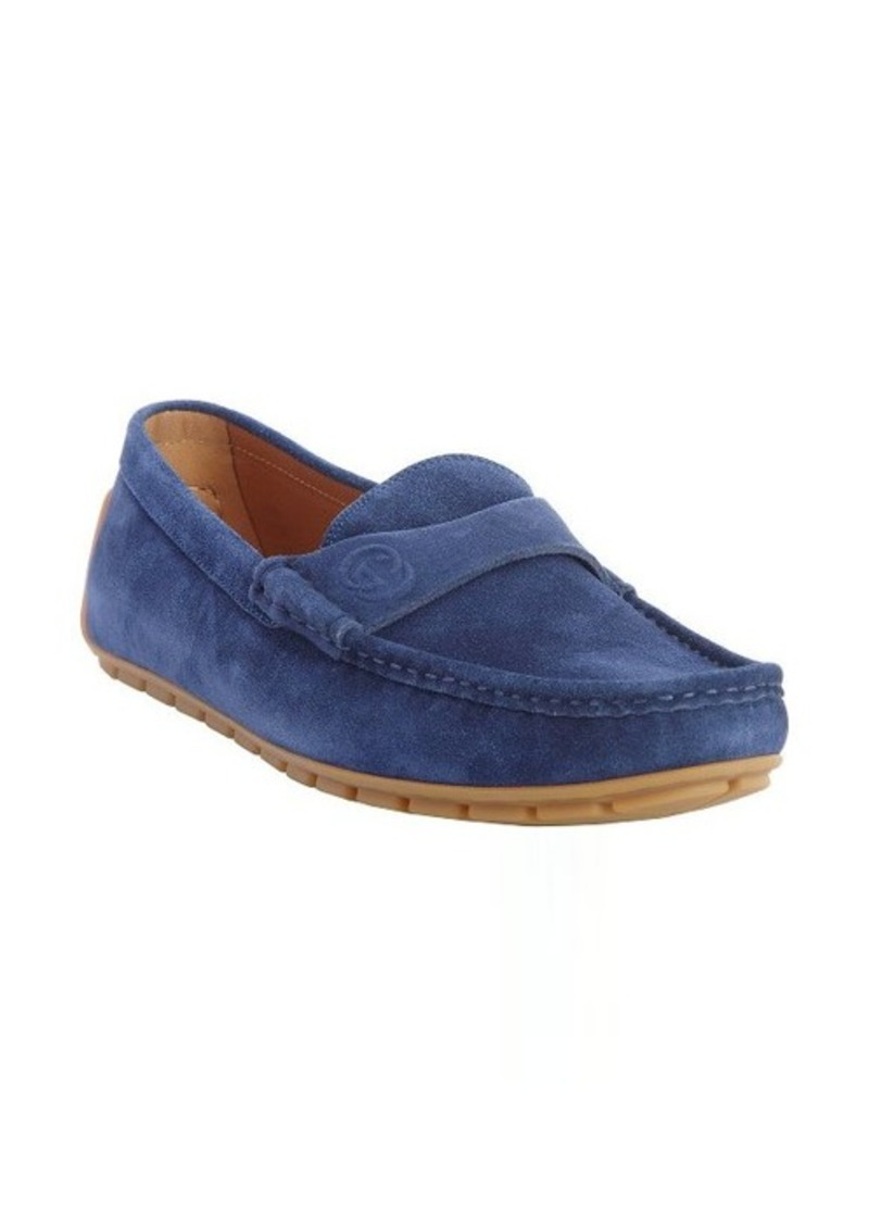 Mens Blue Suede Saddle Shoes