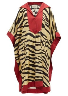 Gucci Zebra-print silk kaftan dress