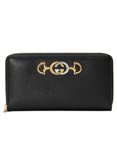 Gucci Zumi 548 Zip-Around Leather Wallet
