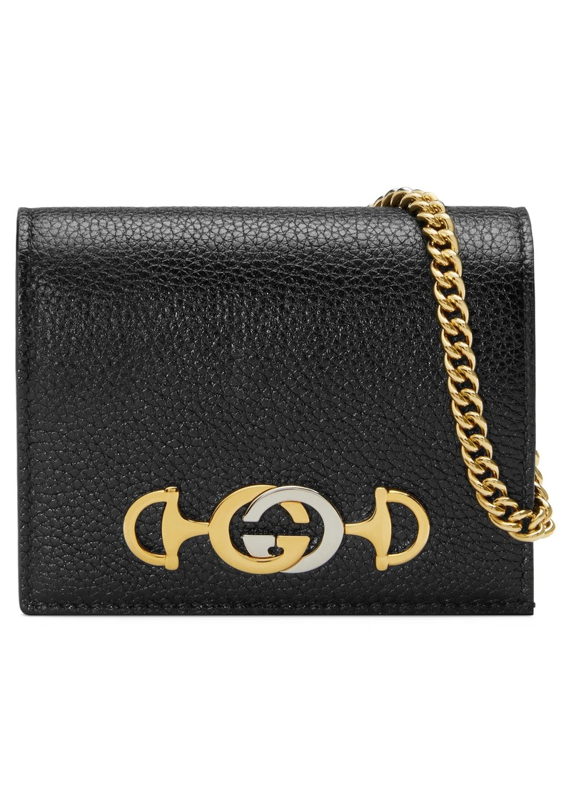 Gucci Zumi 655 Leather Wallet on a Chain