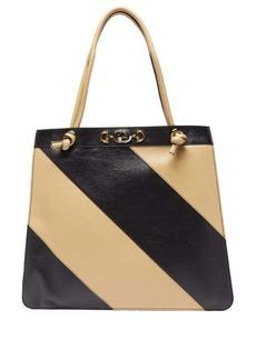 Gucci Zumi striped leather tote bag