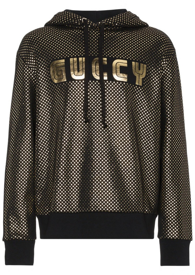 5a1adecf4cfc Gucci Guccy Logo Jersey Hoodie | Outerwear