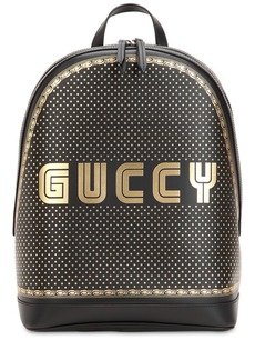 Gucci Guccy Printed Leather Backpack