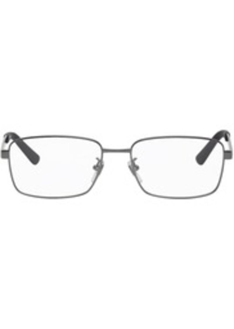 Gucci Gunmetal & Blue Rectangular Glasses