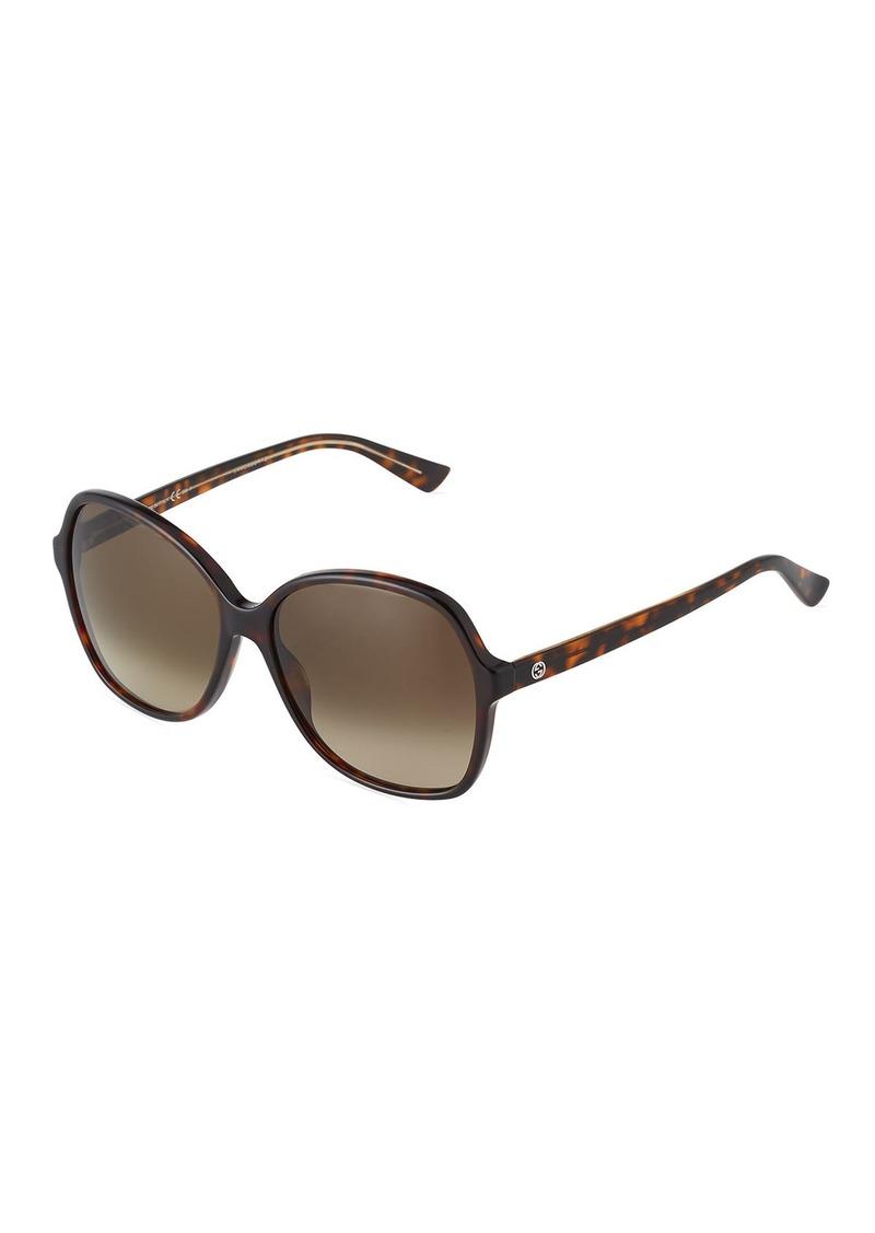 7cf8e859ea7 Gucci Havana Plastic Square Sunglasses Now  199.00