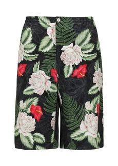 Gucci Haway Printed Silk Blend Bermuda Shorts