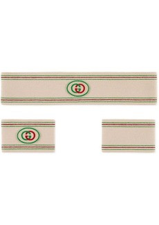 Gucci Headband and wrist cuffs with Interlocking G